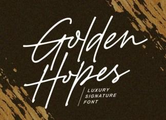 Golden Hopes Handwritten Font