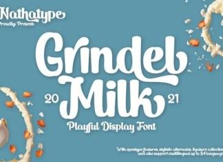 Grindel Milk Script Font