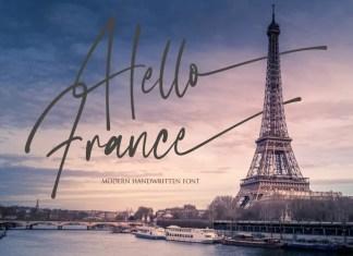 Hello France Handwritten Font