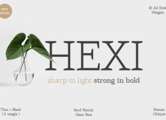 Hexi Serif Font