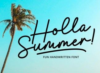 Holla Summer Script Font