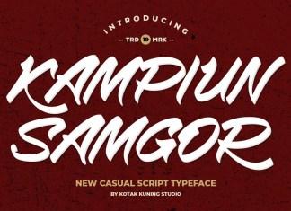 Kampiun Samgor Brush Font