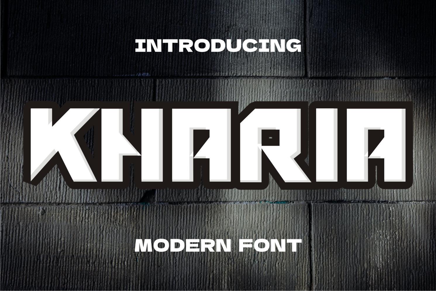 kharia Display Font