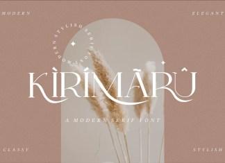 Kirimaru Serif Font