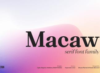 Macaw Serif Font