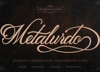 Metalurdo Calligraphy Font
