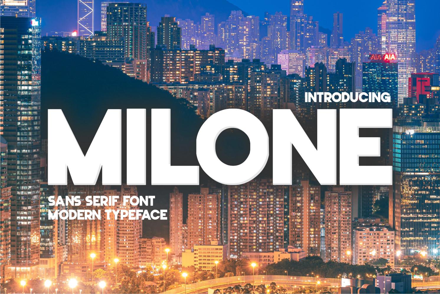 Milone Display Font