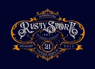 Rusty Store Blackletter Font