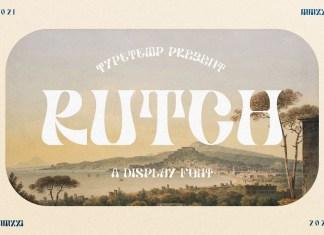 Rutch Display Font