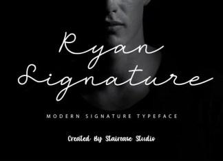 Ryan Signature Font