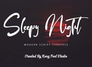 Sleepy Night Script Font