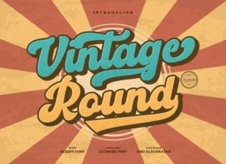 Vintage Round Script Font