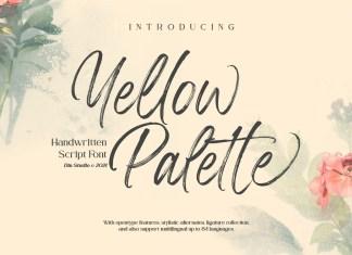Yellow Palette Brush Font