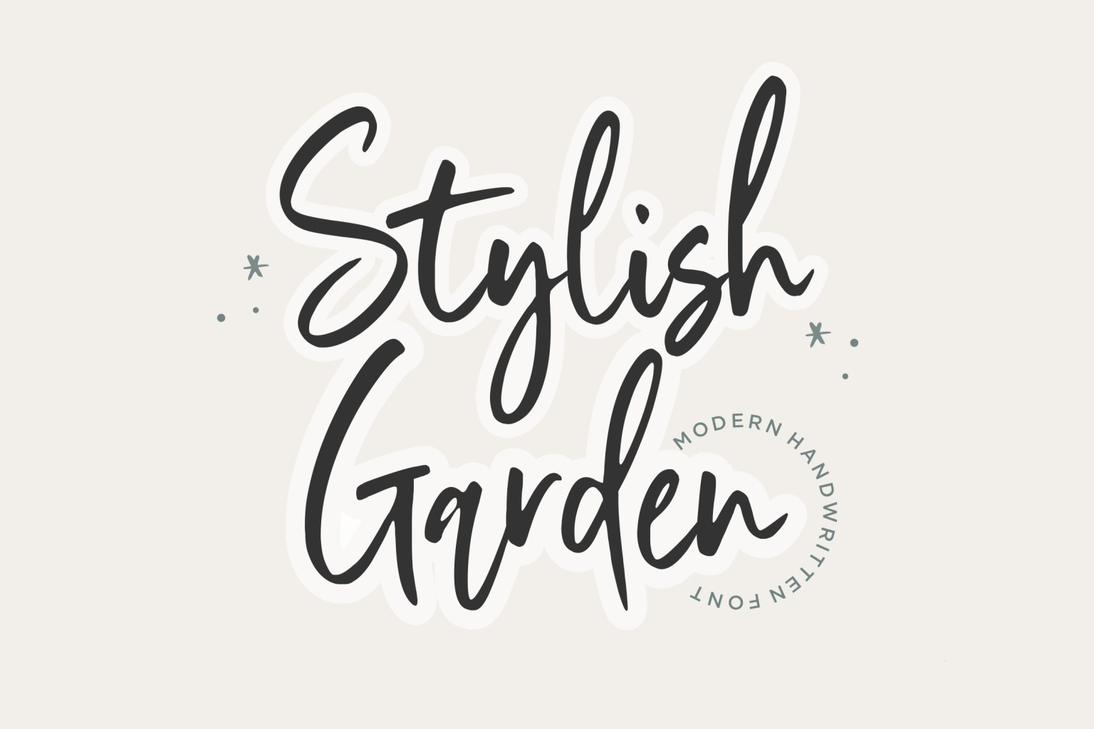 Stylish Garden Handwritten Font