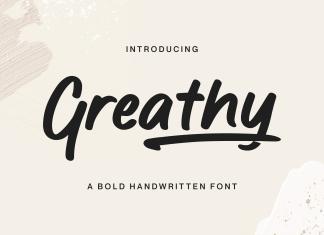 Greathy Script Font