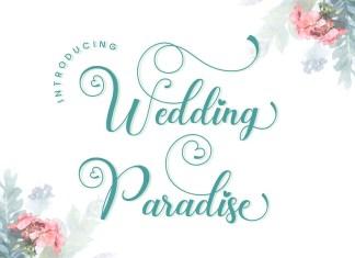 Wedding Paradise Calligraphy Font