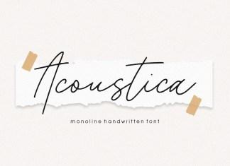 Acoustica Script Font