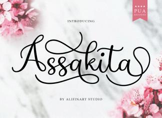Assakita Handwritten Font
