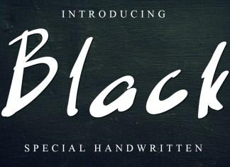 Black Script Font
