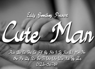 Cute Man Script Font