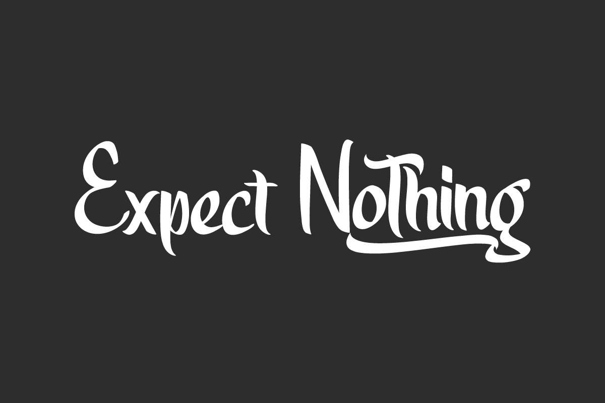 Expect Nothing Script Font