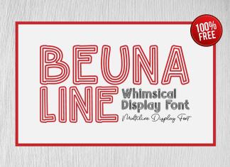 Beuna Line Font