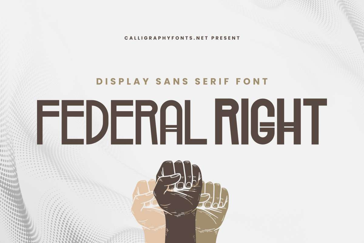 Federal Right Display Font