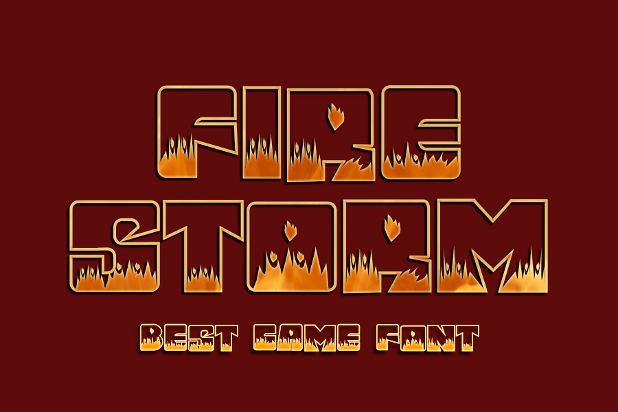 Fire Storm Display Font