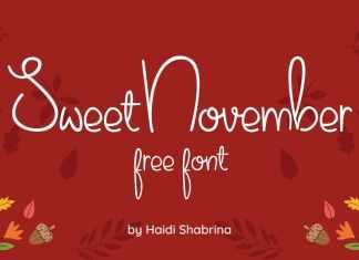 Sweet November Handwritten Font
