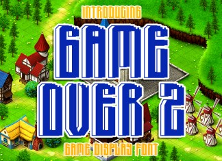 Game Over 2 Display Font