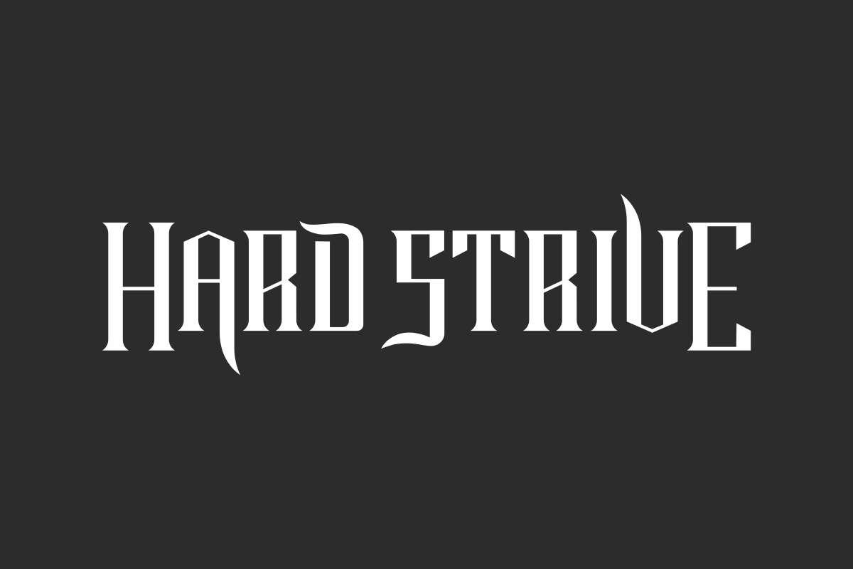 Hard Strive Font