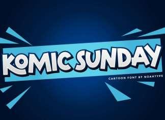 Komic Sunday Display Font