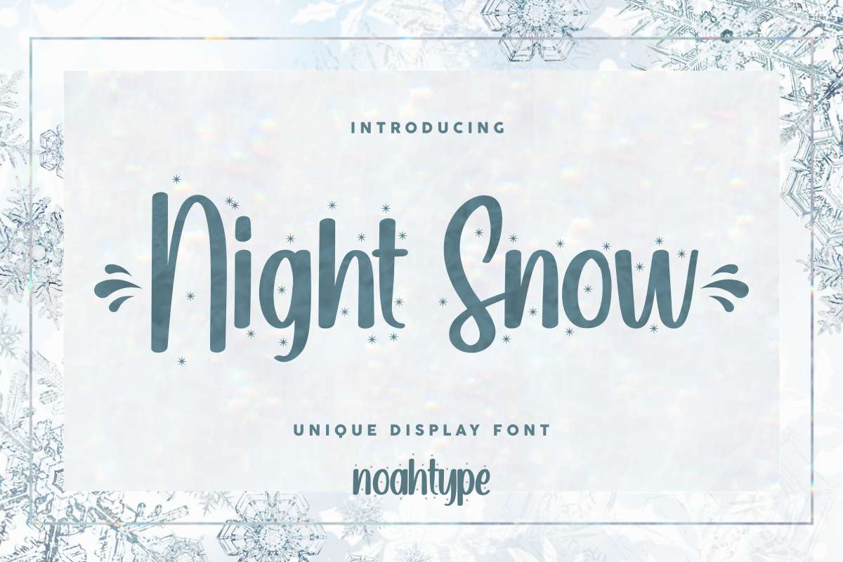 Night Snow Script Font