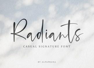 Radiants Script Font