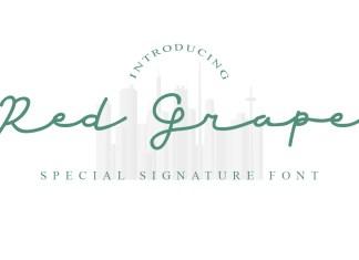 Red Grape Handwritten Font