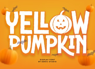 Yellow Pumpkin Display Font
