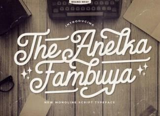 Anelka Fambuya Script Font