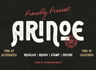 Arinoe Display Font