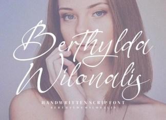 Berthylda Wilonalis Script Font