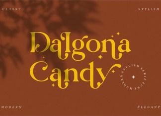 Dalgona Candy Serif Font