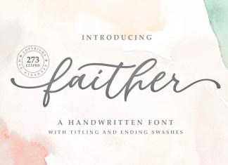 Faither Script Font