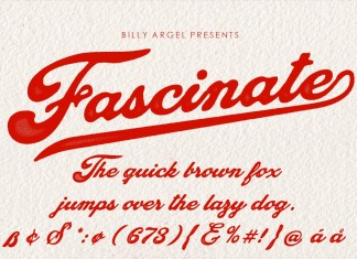Fascinate Script Font