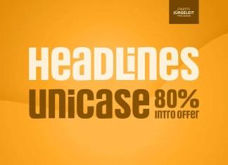 Headlines Unicase Sans Serif Font