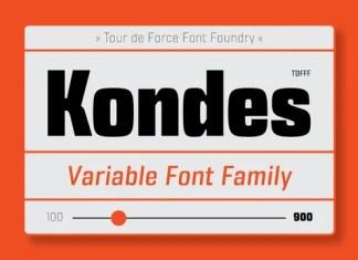 Kondes Sans Serif Font