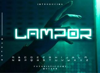 Lampor Display Font