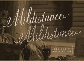 Mildistance Script Font