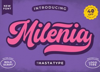 Milenia Script Font