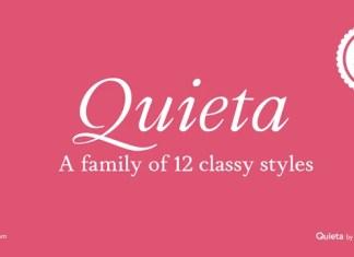 Quieta Serif Font