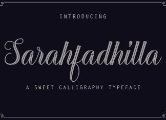 Sarahfadhilla Script Font