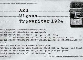 AEG Mignon Typewriter 1924 Font